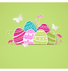 Eggs on a green background vector