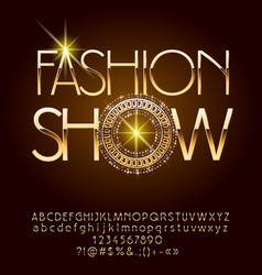 Elegant logotype fashion show vector