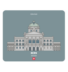 Federal palace in bern switzerland vector
