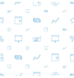 Financial icons pattern seamless white background vector