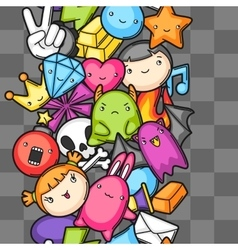 Game kawaii seamless pattern cute gaming design vector