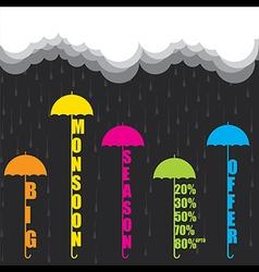 Gb 030creative big monsoon season offer banner vector