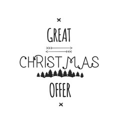 Great christmas offer typography overlay xmas vector