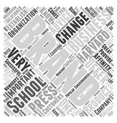 Harvard business school change branding Word Cloud vector