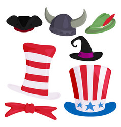 hats different funny caps for party holidays and vector image