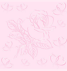 heart with bouquet of roses vector image