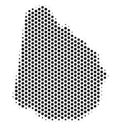 Hex tile uruguay map vector