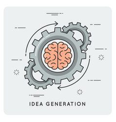 idea generation linear flat style concept vector image