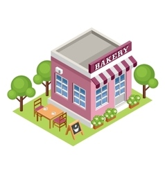 Isometric bakery vector image