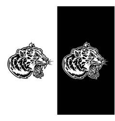 jaguar head side view vector image
