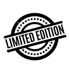 Limited Edition rubber stamp vector image