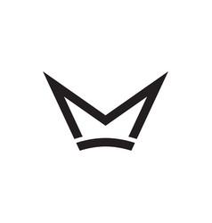 m crown letter logo design concept vector image