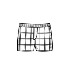 male underpants hand drawn sketch icon vector image