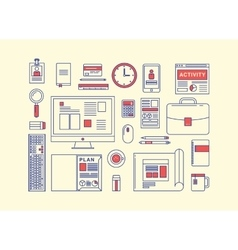 Modern design flat icon collection concept vector