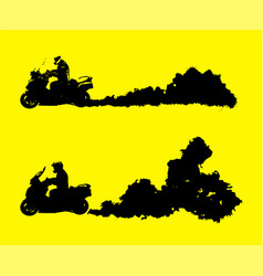 Motorcycle moving fast vector