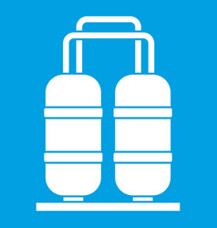 Oil refinery plant icon white vector