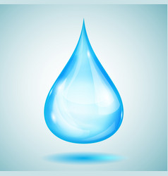 one big light blue drop vector image