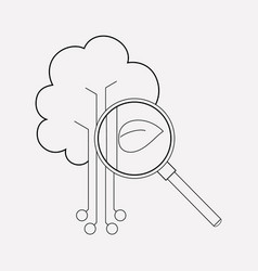Organic search icon line element vector
