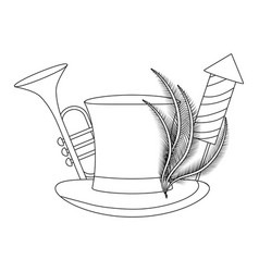 party hat cartoon vector image