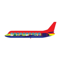 Passengers on the plane vector image