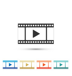play video icon isolated on white background vector image