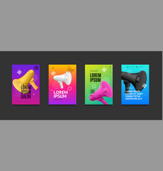 poster banner card with realistic detailed 3d vector image