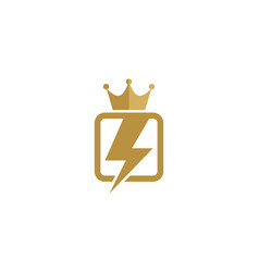 power king logo icon design vector image