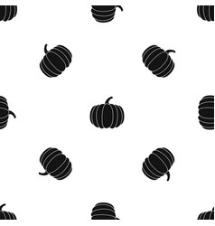 pumpkin pattern seamless black vector image