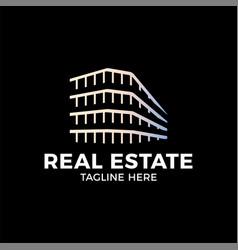 real estate construction logo design template vector image