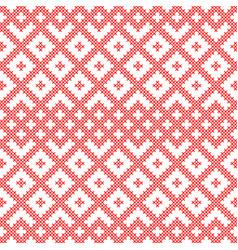 seamless pattern based on slavic ornament vector image
