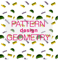 seamless pattern in colors with geometric vector image