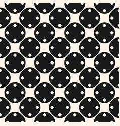 Seamless pattern with big and small circles black vector