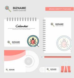 Search bug logo calendar template cd cover diary vector