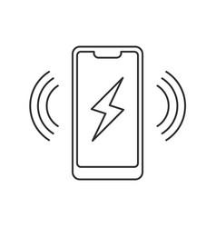 Smartphone wireless charging icon vector