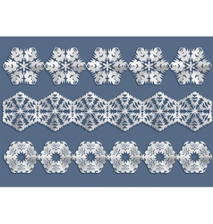 snowflake christmas decorations vector image