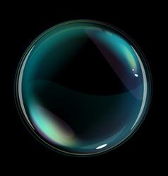 Soap bubble one vector
