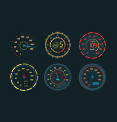 speedometer transport measurements counter of vector image
