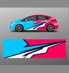 Sport car racing wrap design design template vector