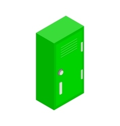 Student locker icon isometric 3d style vector