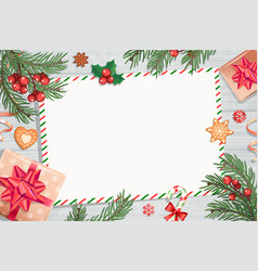 Template of christmas letters and wishes vector