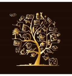 Travel tree concept for your design vector image