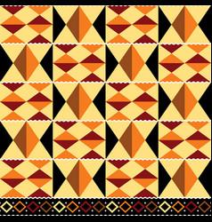 Tribal seamless textile pattern - kente vector