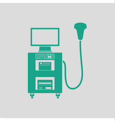 Ultrasound diagnostic machine icon vector image