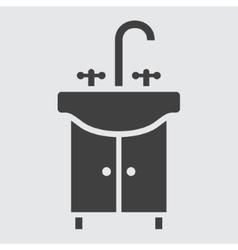 Wash hand basin icon vector