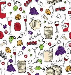 Wine sketch and vintage vector