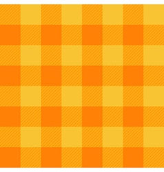 Yellow Orange Chessboard Background vector image