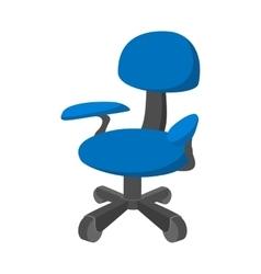 Blue office chair cartoon icon vector image