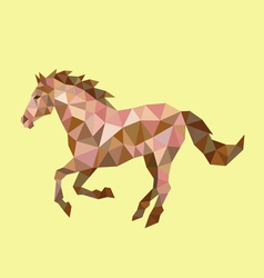 Horse low polygon vector image vector image