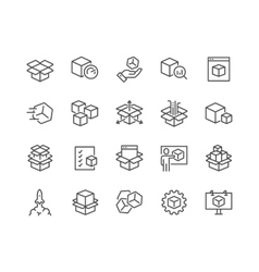 Line Abstract Product Icons vector image vector image