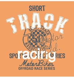 Short track racing vector image